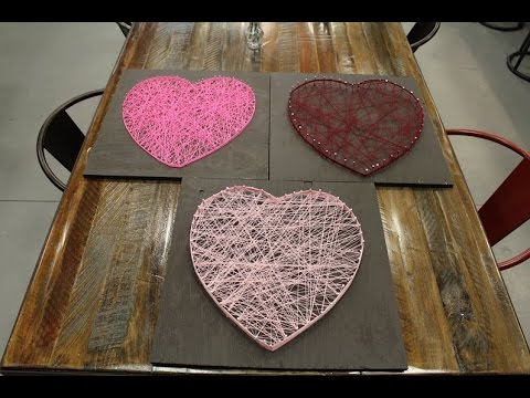 Hey Valentine Try Crafting This Heart String Art Youtube