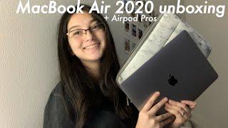 Macbook Air + Airpod Pros unboxing 2020
