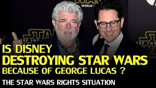 Is Disney destroying STAR WARS over George Lucas royalties? The Star Wars Rights