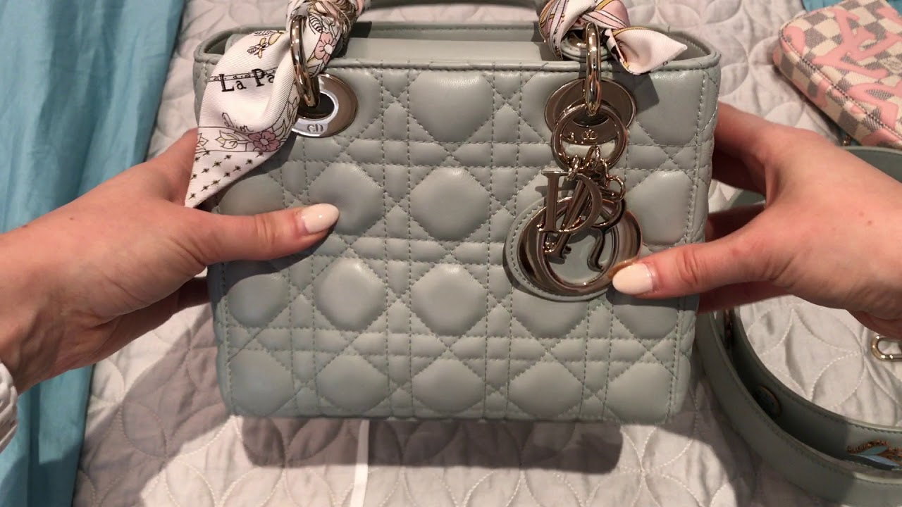 abee8239bffe MY LADY DIOR REVIEW - WHAT FITS - COMPARISON TO OTHER DIOR BAGS ...