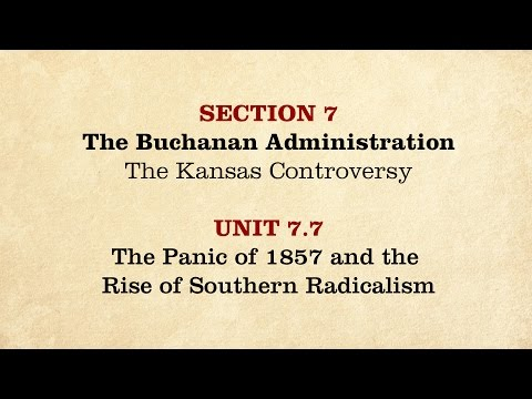 MOOC | The Panic of 1857 | The Civil War and Reconstruction, 1850-1861 | 1.7.7