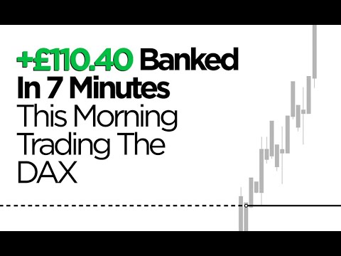 £110 Banked In 7 Minutes This Morning Day Trading The DAX