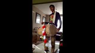 Ajay playing dhol to rihanna dimonds