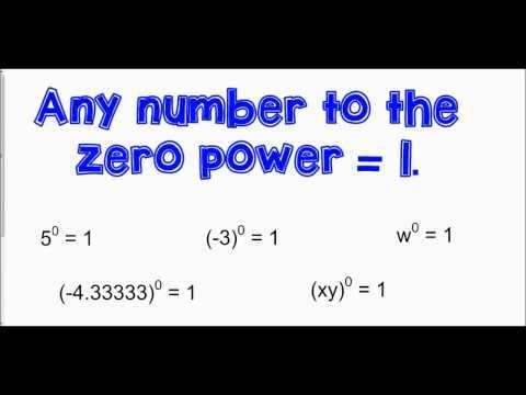 7-1 Zero and Negative Exponents