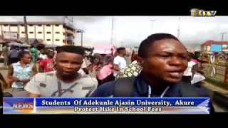 Students of Adekunle Ajasin Uni. protest hike in school fees