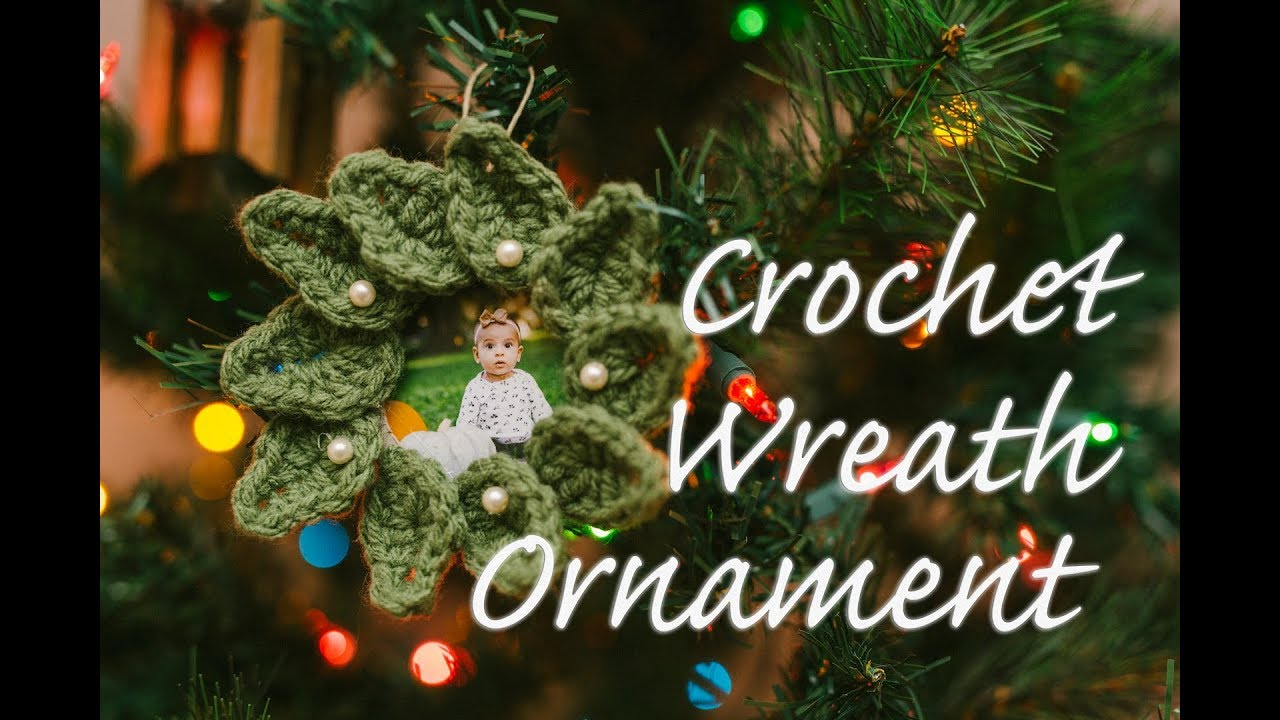 Easy Diy Crochet Christmas Wreath Ornament Youtube