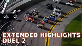 Austin Dillon beats out Bubba Wallace in wreck filled Duel 2 at Daytona | Daytona Duels