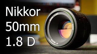 Обзор объектива, Nikkor 50mm 1.8D для съемки видео(Обзор объектива Nikkor 50 mm 1.8 D - только личный опыт использования, все плюсы и минусы этой модели. Самый дешевый..., 2016-01-05T12:16:23.000Z)