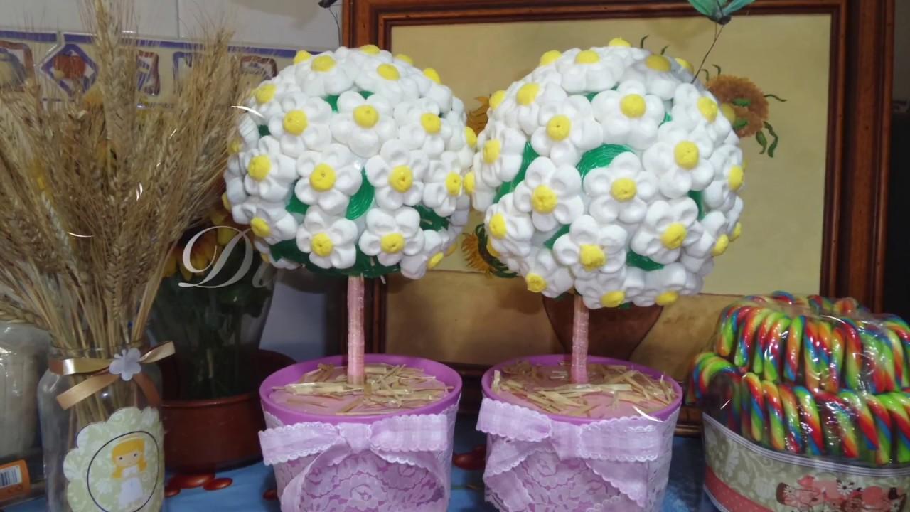Ideas creativas 5 rbol de nubes dulces para la mesa de - Arboles de navidad de chuches ...