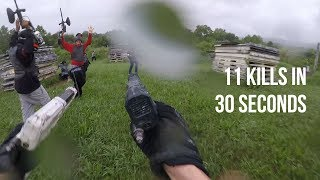 11 Kills in Less Than 30 Seconds! - Dual TiPX Magfed Paintball