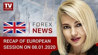 InstaForex tv news: 08.01.2020: USD extends gains against European currencies: outlook for EUR/USD and GBP/USD