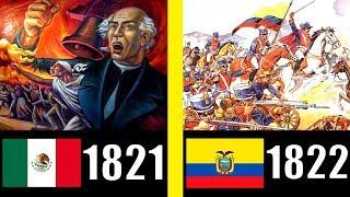 AÑO DE INDEPENDENCIA DE CADA PAÍS