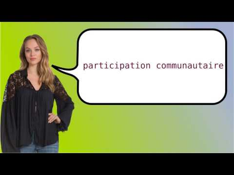 How to say 'community participation' in French?
