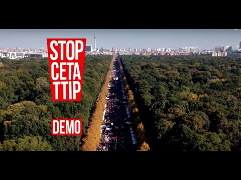 Groß-Demos: Am 17.9. sagen Hunderttausende Nein zu TTIP und CETA