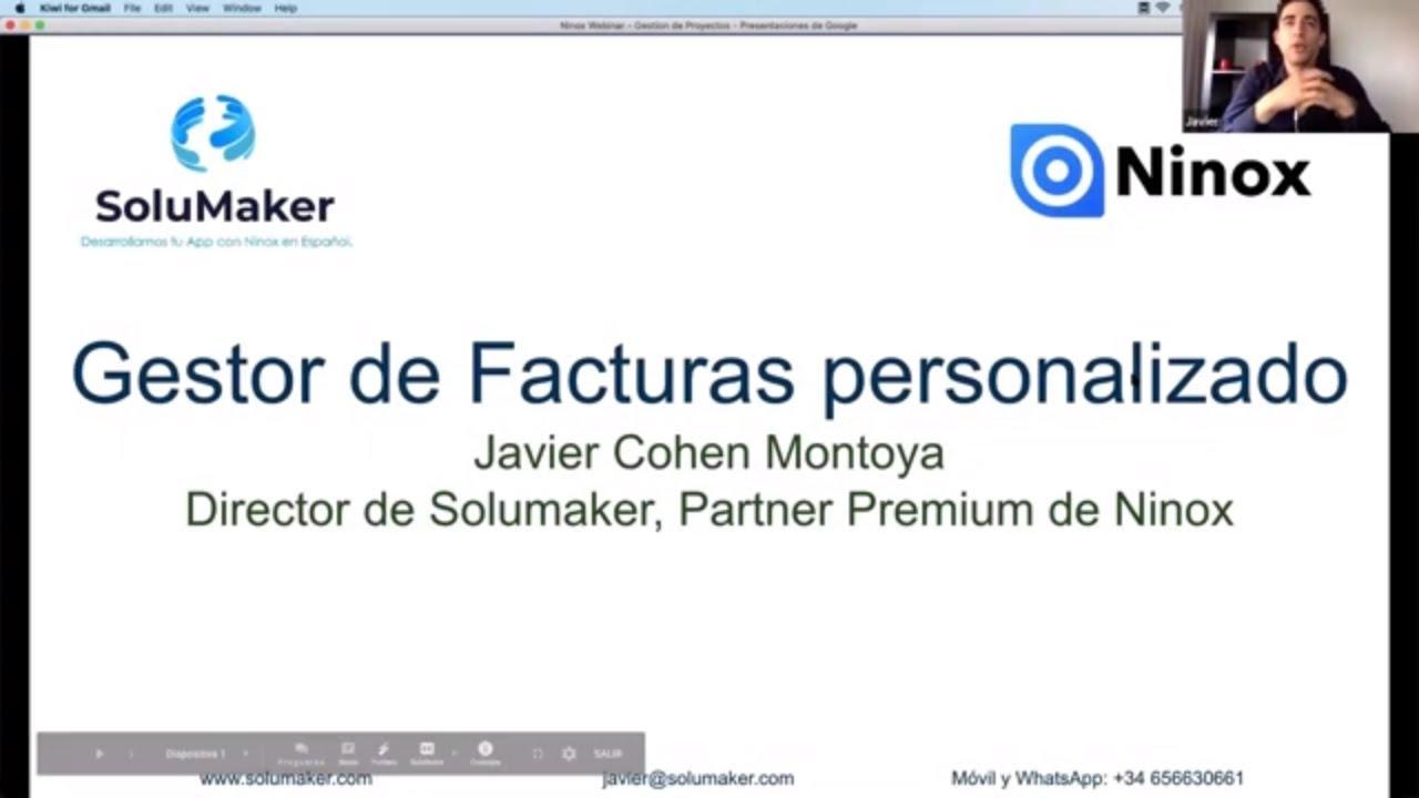 Crear Facturas con Ninox Database - Tutorial 1