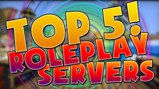 TOP 5 MINECRAFT ROLEPLAY SERVERS!