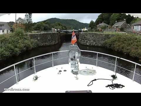 Dirona through Scotland's Crinan Canal