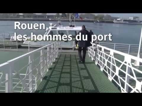 Rouen Les hommes du port