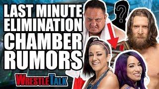 SHOCKING Last Minute WWE Elimination Chamber Rumours YOU Need To Know! | WrestleTalk