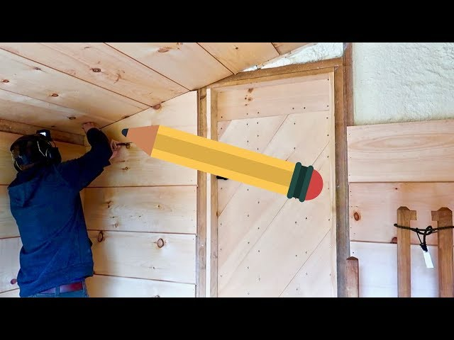 PENCIL HACK improved my woodworking skills (installing Shiplap)