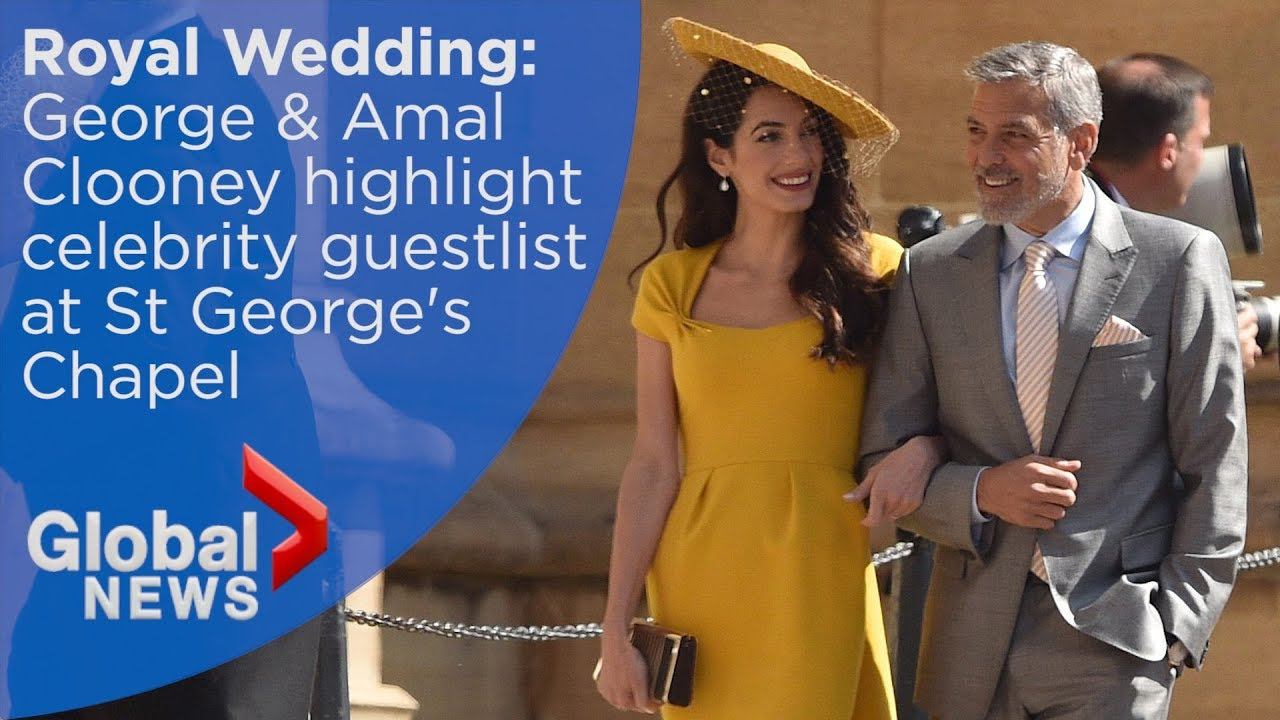 Amal Clooney Royal Wedding.Royal Wedding George And Amal Clooney Arrive At Chapel