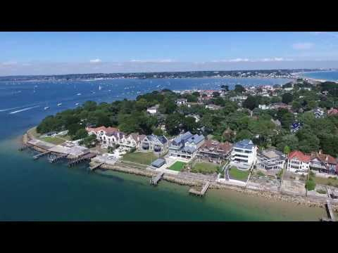 DRONE FOOTAGE OF SANDBANKS IN DORSET