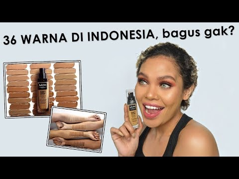 FOUNDATION PALING TAHAN MINYAK BUK.. NYX Can't Stop Won't Stop Foundation Review