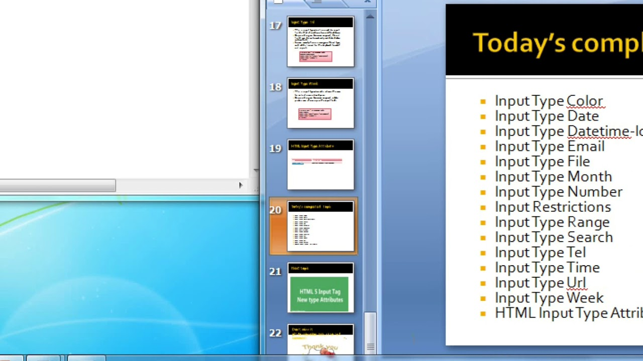 Html5 input type time and URL with tags, notepad lesson: 24 (part-10)