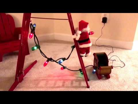 Mr Christmas STEPPING SANTA Mechanical Animated Musical Lighted Decoration Rare