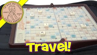 Game Folio Scrabble Travel Game With Zipper Case