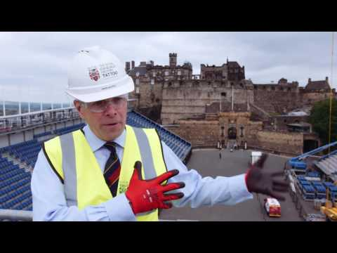 Interserve constructs the Royal Edinburgh Military Tattoo grandstand at Edinburgh Castle
