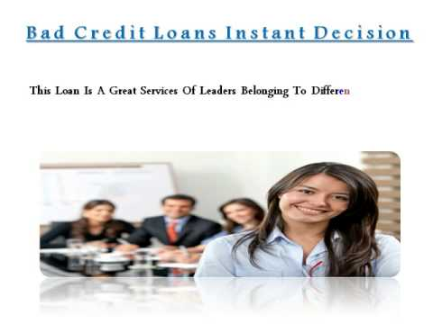 Trouble Free Borrow Bad Credit Loans Instant Decision
