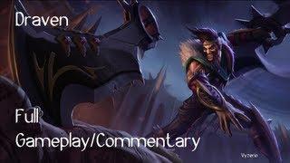 League of Legends Draven 2x Quadra, no Penta Gameplay/Commentary