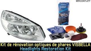 Entretien Auto : Test d'un Kit de rénovation d'optiques de phares - VISBELLA