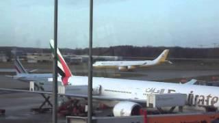 Royal Brunei Airbus A340 Start  at Hamburg