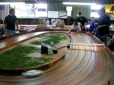 Ironman Dirt Oval Slot Car Track Youtube