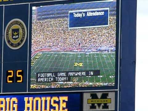 Michigan Stadium Attendance Announcement