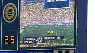 Michigan Stadium Attendance Announcement