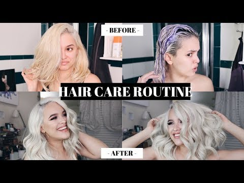 HOW TO KEEP BLEACH BLONDE HAIR HEALTHY AND SOFT! HAIR CARE ROUTINE   CassidySecrets
