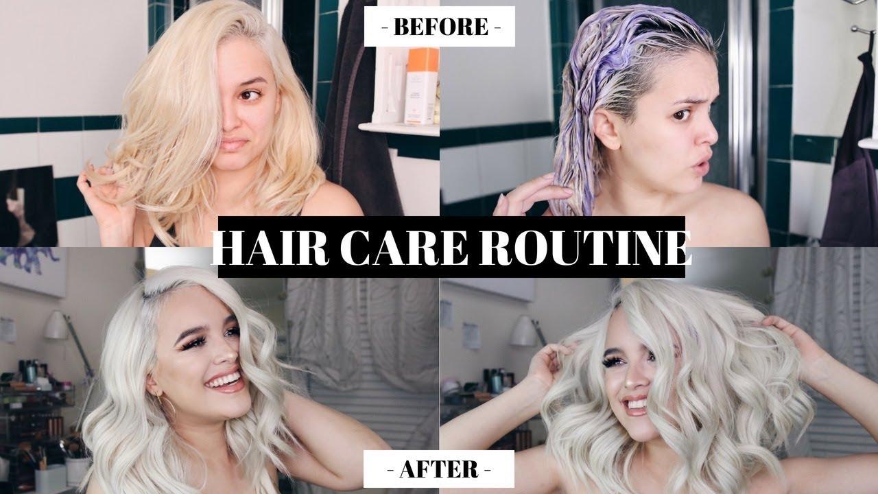 HOW TO KEEP BLEACH BLONDE HAIR HEALTHY AND SOFT! HAIR CARE ROUTINE |  CassidySecrets
