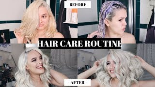 HOW TO KEEP BLEACH BLONDE HAIR HEALTHY AND SOFT! HAIR CARE ROUTINE | CassidySecrets