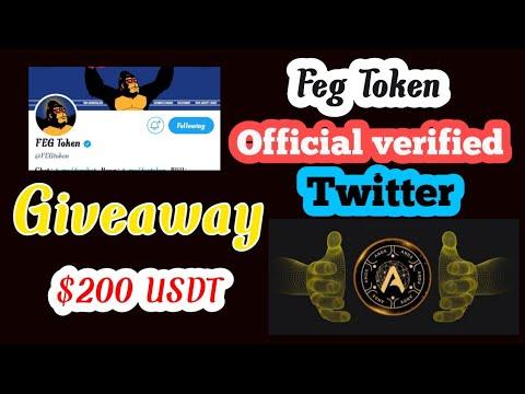 Feg Token office Twitter verified details & Feg Exchange Update/200 USDT Free giveaway#giveaway#Feg