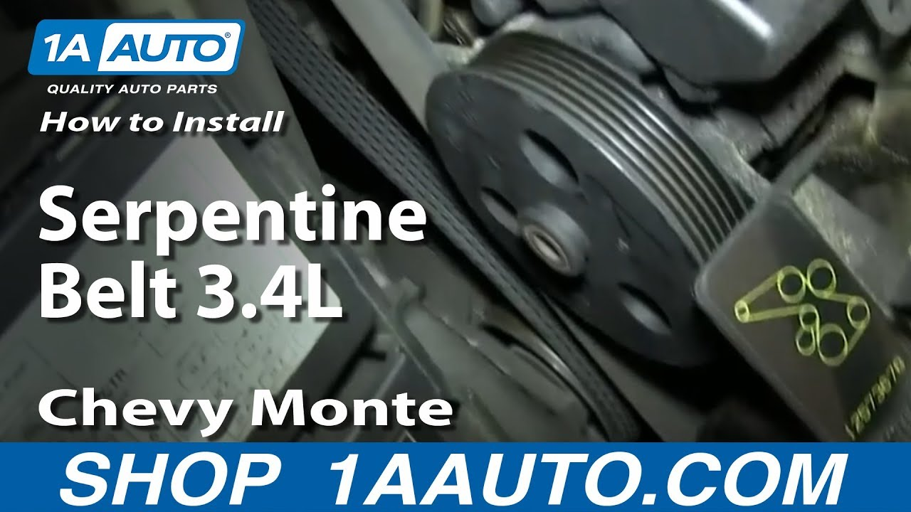 how to install replace serpentine belt 3 4l 2000 05 chevy monte how to install replace serpentine belt 3 4l 2000 05 chevy monte carlo