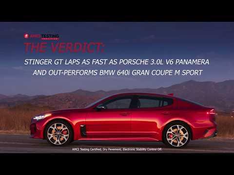 Stinger GT vs Porsche Panamera vs BMW 640i AMCI Test | Kia