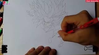 Drawing Goku   Goku SSJ5   Ep 20