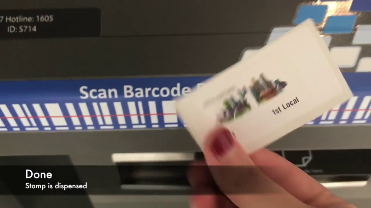 Singapore: Buying Stamps at SAM Kiosks - YouTube