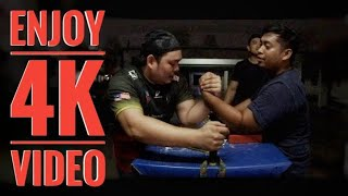 Sparring gusti lengan, slow and steady main hook.