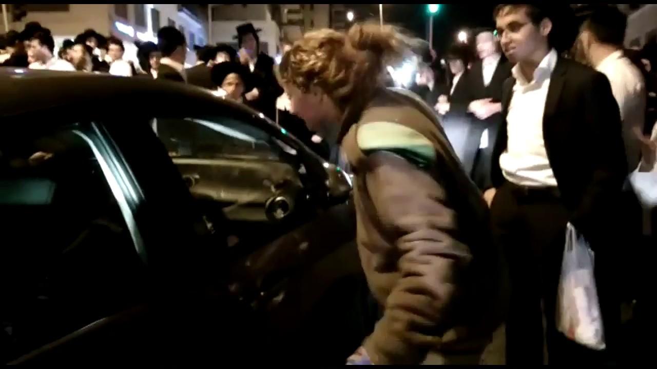 Female Israeli Soldier Ninja Moves on Ultra Orthodox Jewish Protesters