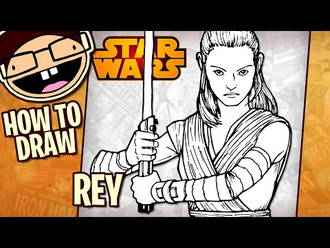 How To Draw REY (Star Wars) | Narrated Step-by-Step Tutorial