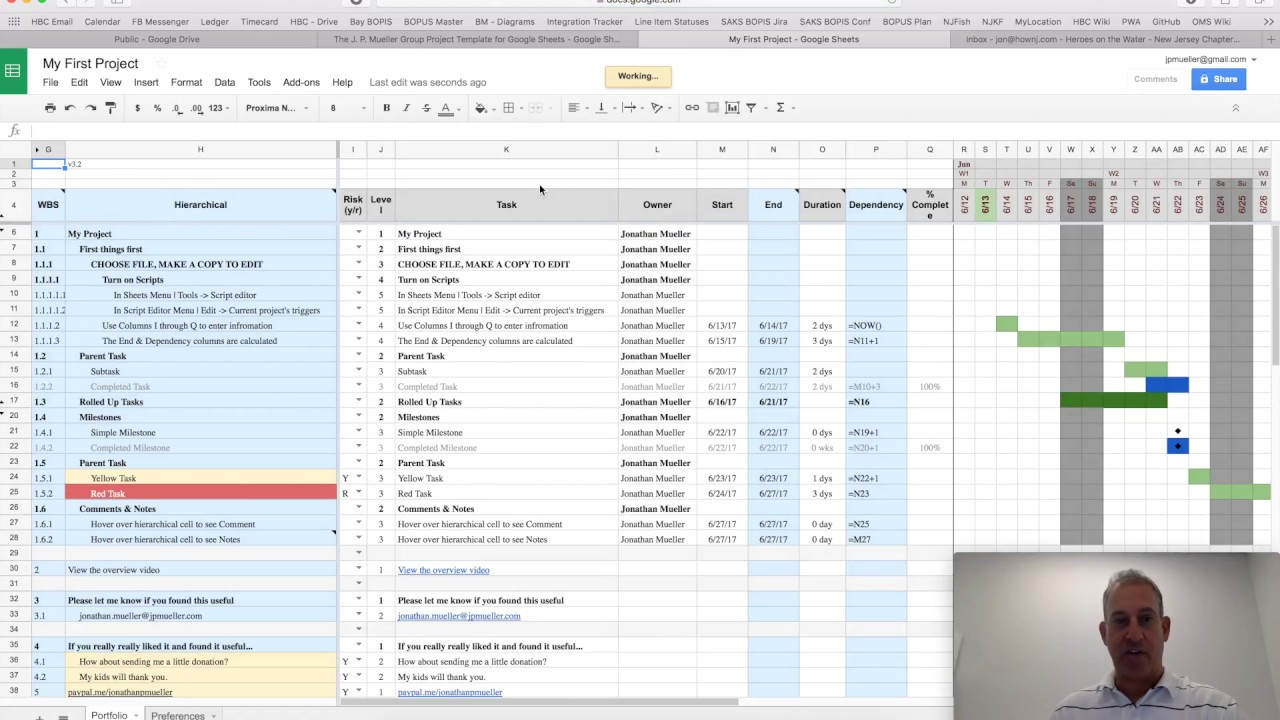 project plan template for google sheets v3 x youtube